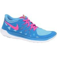 Sko Dreng Lave sneakers Nike Free 50 GS Blå, Pink