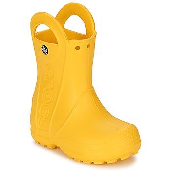 Sko Børn Gummistøvler Crocs HANDLE IT RAIN BOOT KIDS Gul