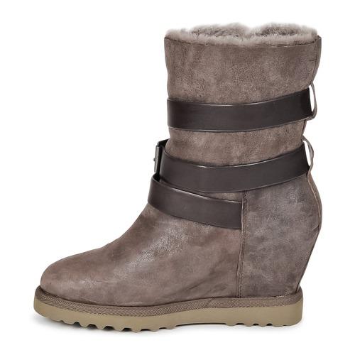 YES  Ash  høje støvletter  dame  muldvarpegrå NSXV9
