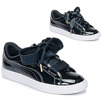 Sko Dame Lave sneakers Puma BASKET HEART PATENT WN'S Sort / Lakeret