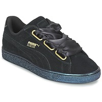 Sko Dame Lave sneakers Puma BASKET HEART SATIN WN'S Sort