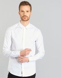 textil Herre Skjorter m. lange ærmer Calvin Klein Jeans WILBERT Hvid