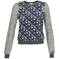 textil Dame Sweatshirts Manoush MOSAIQUE Grå / Sort / Blå
