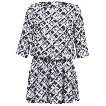 textil Dame Korte kjoler Manoush MOSAIQUE Grå / Sort / Parma