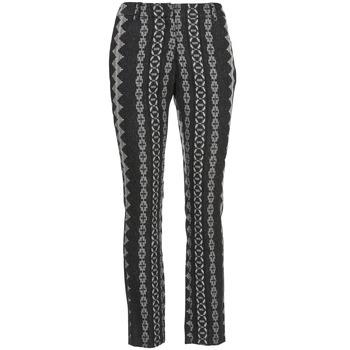 textil Dame Lærredsbukser Manoush TAILLEUR Grå / Sort