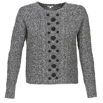 textil Dame Pullovere Manoush TORSADE Grå / Sort