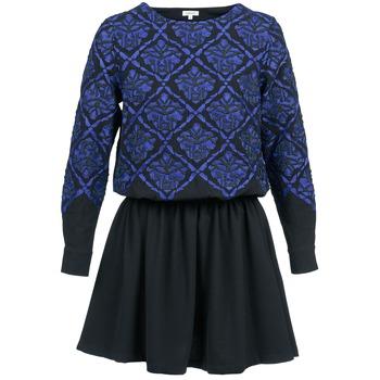 textil Dame Korte kjoler Manoush GIRANDOLINE Sort / Blå