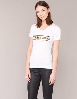 textil Dame T-shirts m. korte ærmer Versace Jeans B2HPA7GC Hvid