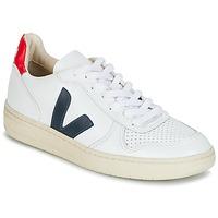 Sko Lave sneakers Veja V-10 Hvid / Blå / Rød