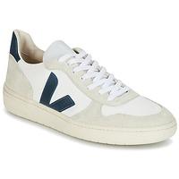 Sko Lave sneakers Veja V-10 Hvid / Blå