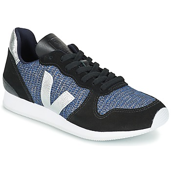 Sko Dame Lave sneakers Veja HOLIDAY LOW TOP Sort / Blå / Sølv