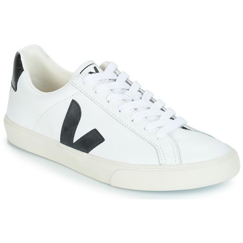 Sko Lave sneakers Veja ESPLAR LOW LOGO Hvid / Sort