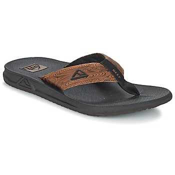 Sko Herre Flip flops Reef PHANTOM PRINTS Sort / Brun