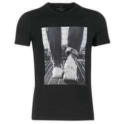 textil Herre T-shirts m. korte ærmer Armani jeans JANADORI Sort