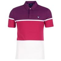 textil Herre Polo-t-shirts m. korte ærmer Armani jeans MARAFOTA Violet / Rød / Hvid
