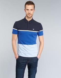 textil Herre Polo-t-shirts m. korte ærmer Armani jeans MARAFOTA Blå