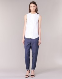 textil Dame Lærredsbukser Armani jeans JAFLORE Blå