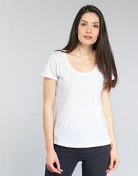 textil Dame T-shirts m. korte ærmer Armani jeans LASSERO Hvid