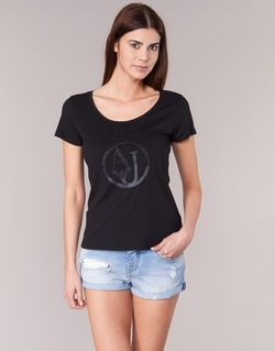 textil Dame T-shirts m. korte ærmer Armani jeans LASSERO Sort