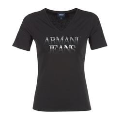 textil Dame T-shirts m. korte ærmer Armani jeans JAGONA Sort