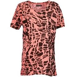 textil Dame T-shirts m. korte ærmer Religion HAWK Rød / Sort