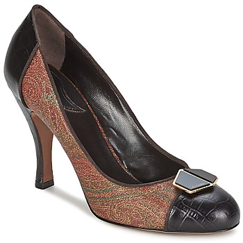 Sko Dame Højhælede sko Etro 3074 Brun