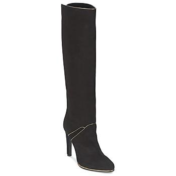 Sko Dame Chikke støvler Etro 3119 Sort / Gylden