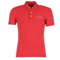 textil Herre Polo-t-shirts m. korte ærmer Napapijri ELBAS Rød