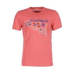 textil Herre T-shirts m. korte ærmer Napapijri VINTAGE KORAL