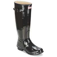 Sko Dame Gummistøvler Hunter WOMEN'S ORIGINAL TALL GLOSS Sort