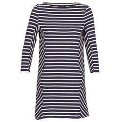 textil Dame Korte kjoler Petit Bateau LESS Marineblå / BEIGE