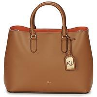 Tasker Dame Håndtasker m. kort hank Ralph Lauren DRYDEN MARCY TOTE Brun / Orange