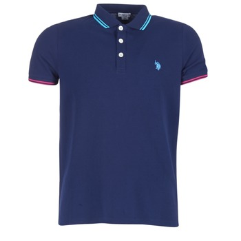 textil Herre Polo-t-shirts m. korte ærmer U.S Polo Assn. BARNEY Marineblå