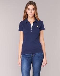 textil Dame Polo-t-shirts m. korte ærmer U.S Polo Assn. LOGO Marineblå