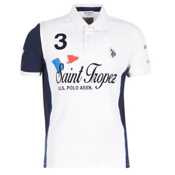 textil Herre Polo-t-shirts m. korte ærmer U.S Polo Assn. SAINT TROPEZ POLO Hvid