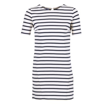 textil Dame Korte kjoler Loreak Mendian HAMABI Marineblå / Hvid
