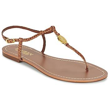 Sko Dame Flip flops Ralph Lauren AIMON SANDALS CASUAL KAMEL