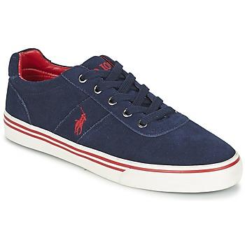 Sko Herre Lave sneakers Polo Ralph Lauren HANFORD Marineblå