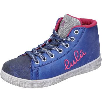 Sko Pige Høje sneakers Lulu sneakers blu tessuto argento camoscio AH227 Blu