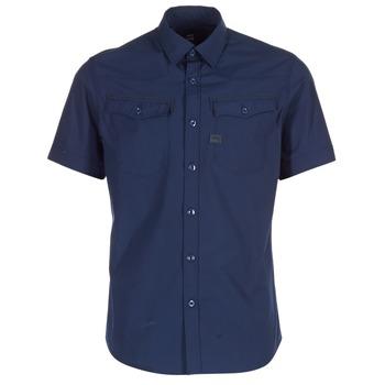 textil Herre Skjorter m. korte ærmer G-Star Raw 3301 SHIRT Marineblå