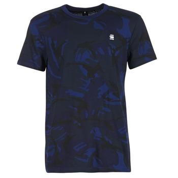 textil Herre T-shirts m. korte ærmer G-Star Raw HOYN Marineblå / Blå