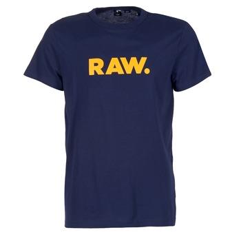 textil Herre T-shirts m. korte ærmer G-Star Raw RAW DOT Marineblå