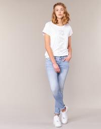 textil Dame Jeans - skinny G-Star Raw LYNN MID SKINNY Blå / Lys