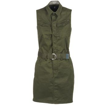textil Dame Korte kjoler G-Star Raw ROVIC SLIM DRESS S/LESS KAKI