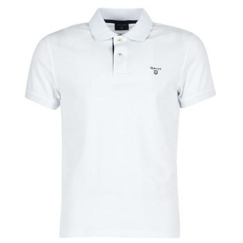 textil Herre Polo-t-shirts m. korte ærmer Gant CONTRAST COLLAR PIQUE Hvid