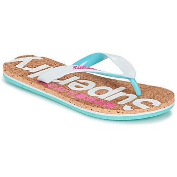 Sko Dame Flip flops Superdry CORK COLOUR POP FLIP FLOP Hvid / Pink / Blå