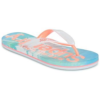 Sko Dame Flip flops Superdry SUPERDRY AOP FLIP FLOP Pink