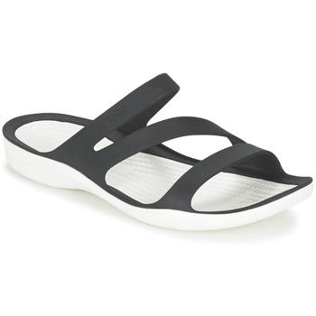 Sko Dame Sandaler Crocs SWIFTWATER SANDAL W Sort / Hvid