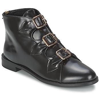 Sko Dame Høje støvletter F-Troupe Triple Buckle Boot Sort