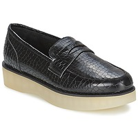 Sko Dame Mokkasiner F-Troupe Penny Loafer Sort